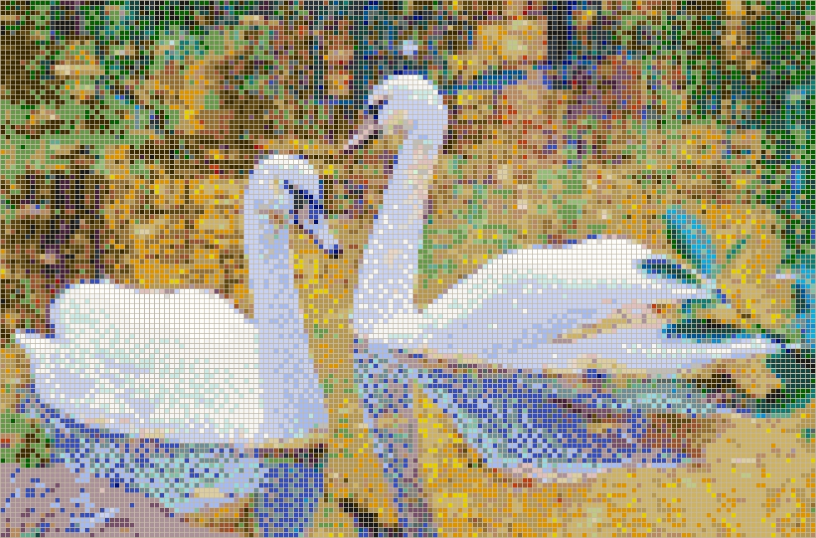 Favorite Mosaic Wall Art Inside Autumn Swans – Framed Mosaic Wall Art (View 15 of 15)