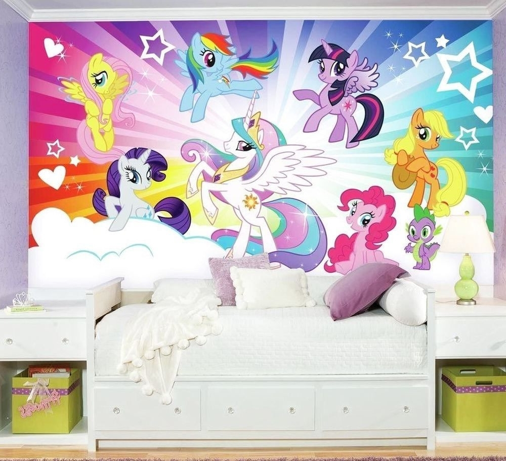Favorite My Little Pony Cloud Burst Xl Chair Rail Wall Mural Wallpaper Design Inside My Little Pony Wall Art (View 4 of 20)