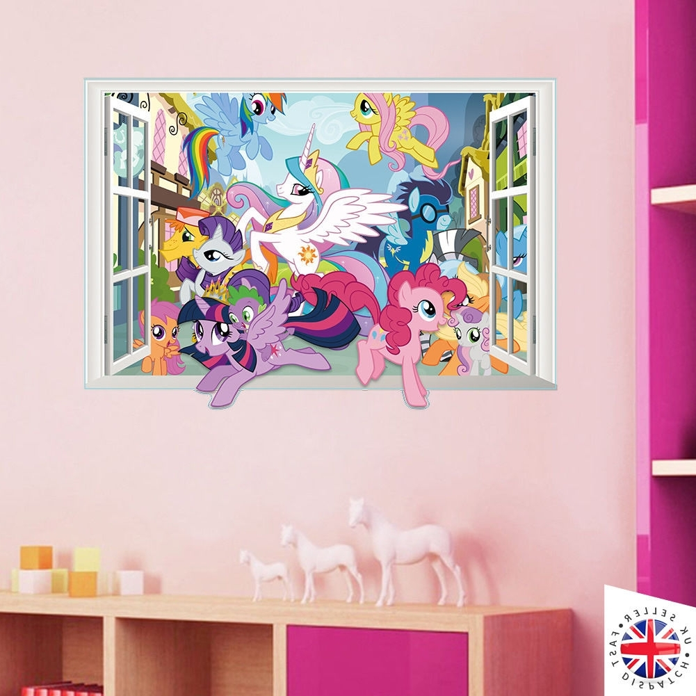 Favorite My Little Pony Wall Art Within 3d My Little Pony Wall Sticker Decal Bedroom Kids Girls Vinyl Art (View 14 of 20)