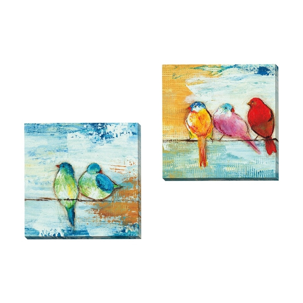 Favorite Shop Havenside Home 2 Piece Portfolio 'song Birds Ii' Framed Canvas With Bird Framed Canvas Wall Art (View 11 of 20)