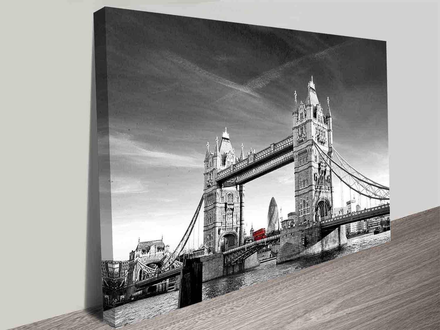 Favorite Tower Bridge Photographic Colour Splash Iconic London Canvas Wall Art With London Wall Art (View 4 of 20)