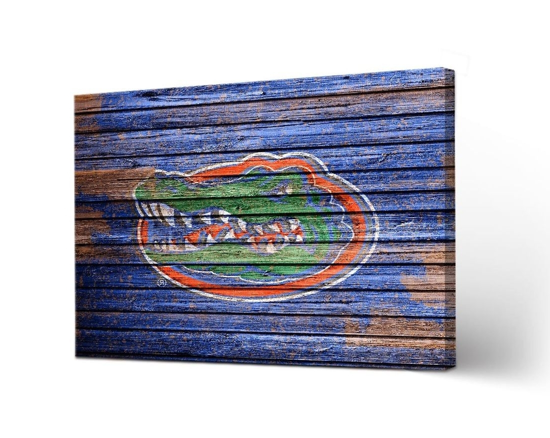 Favorite University Of Florida Gators Uf Canvas Wall Art Weathered Design For Florida Wall Art (View 8 of 20)