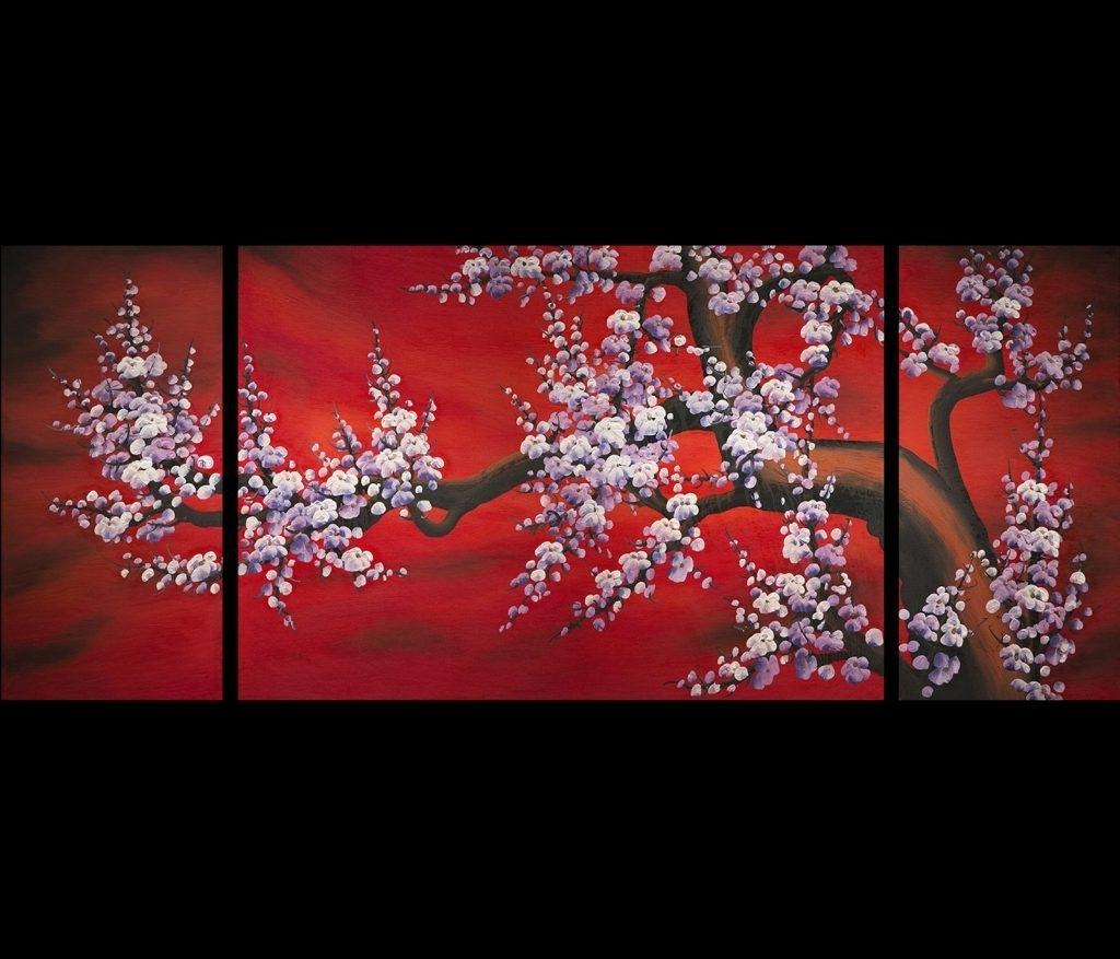 Favorite Wall Art Design Ideas: Flower Chinese Wall Art Simple, Oriental Wall Within Chinese Wall Art (View 11 of 20)