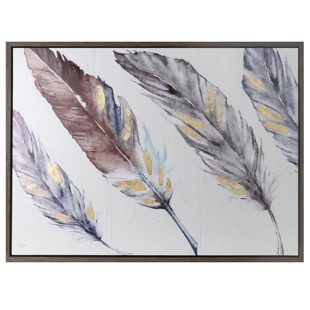 Feather Wall Art Throughout 2017 Spirit 2 Wall Art 84X62 Feathers  (View 7 of 20)