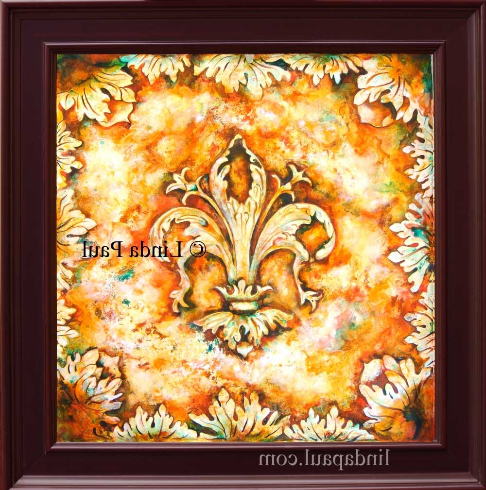 Fleur De Lis Paintings – Fleur De Lys Wall Art Decor For Current Wall Art Paintings (View 8 of 20)