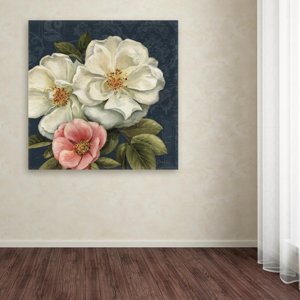 Floral Canvas Wall Art Regarding Trendy Trademark Fine Art 35 In. X 35 In (View 6 of 20)