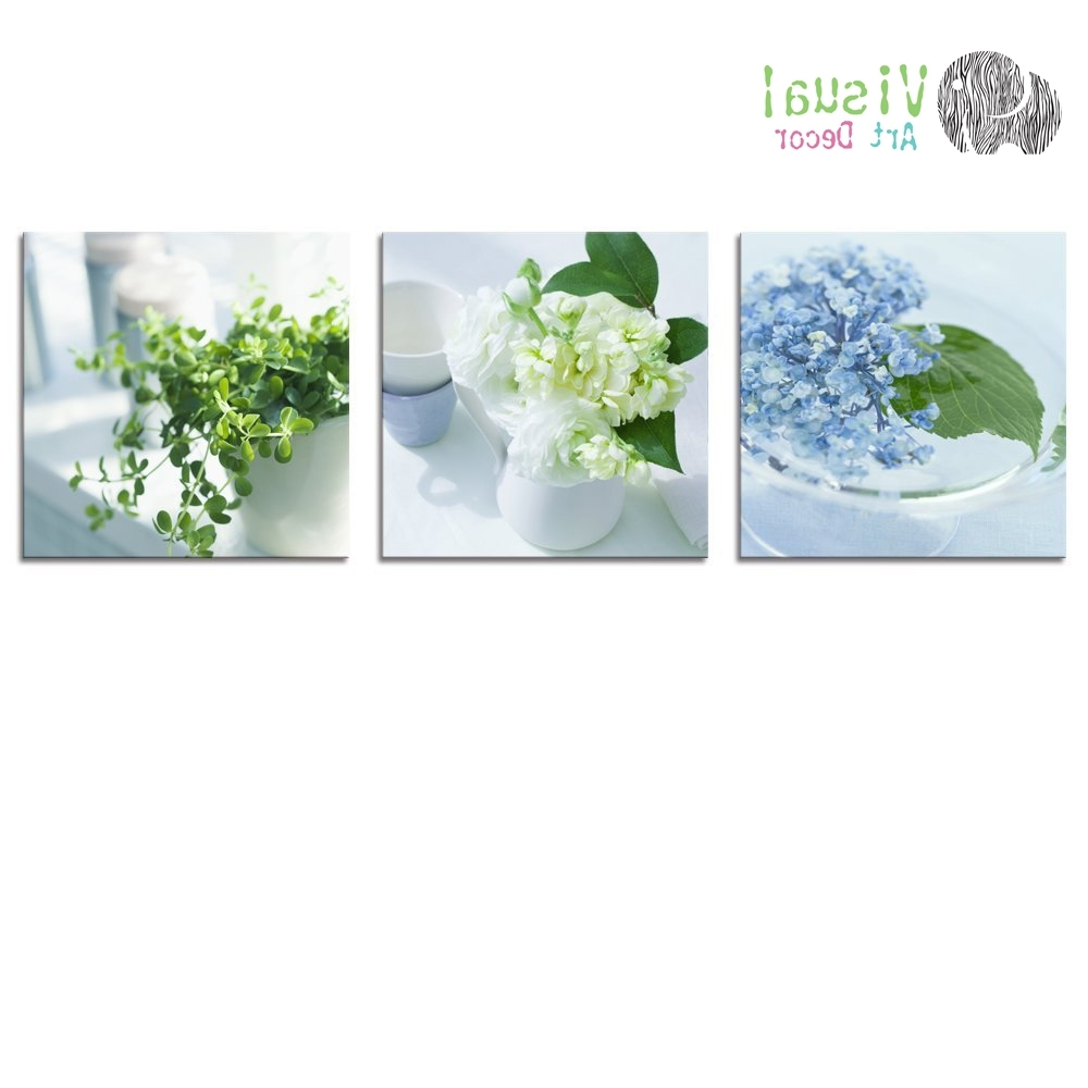 Floral Canvas Wall Art Throughout Favorite Canvas Wall Art Floral Canvas Print Elegant Lift 3 Panels Canvas (View 7 of 20)