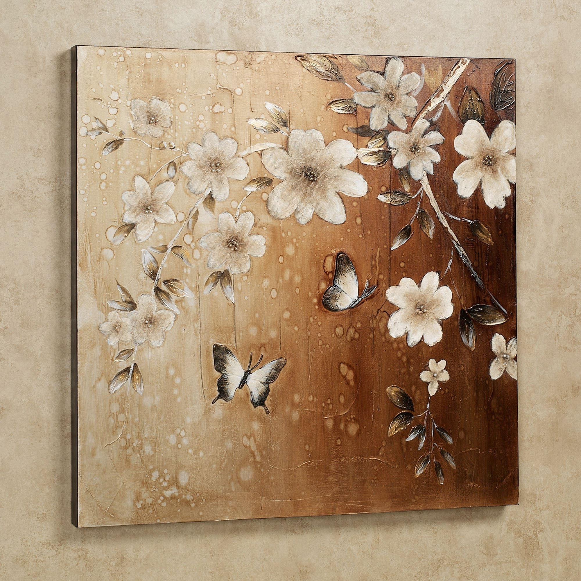 Floral Canvas Wall Art Within Most Recent Midday Sun Butterfly Floral Canvas Wall Art (View 10 of 20)
