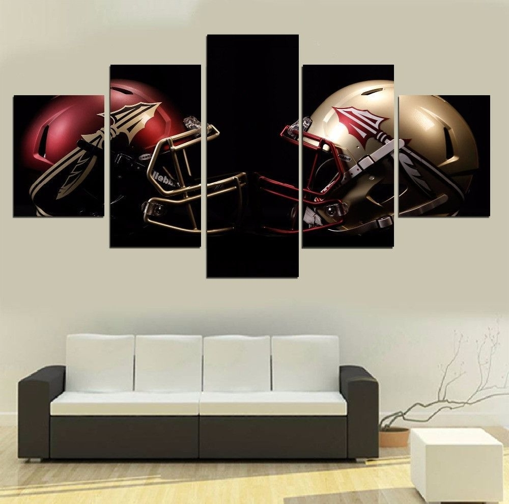 Florida State Football 5 Panel Canvas Wall Art Home Decor (View 10 of 20)