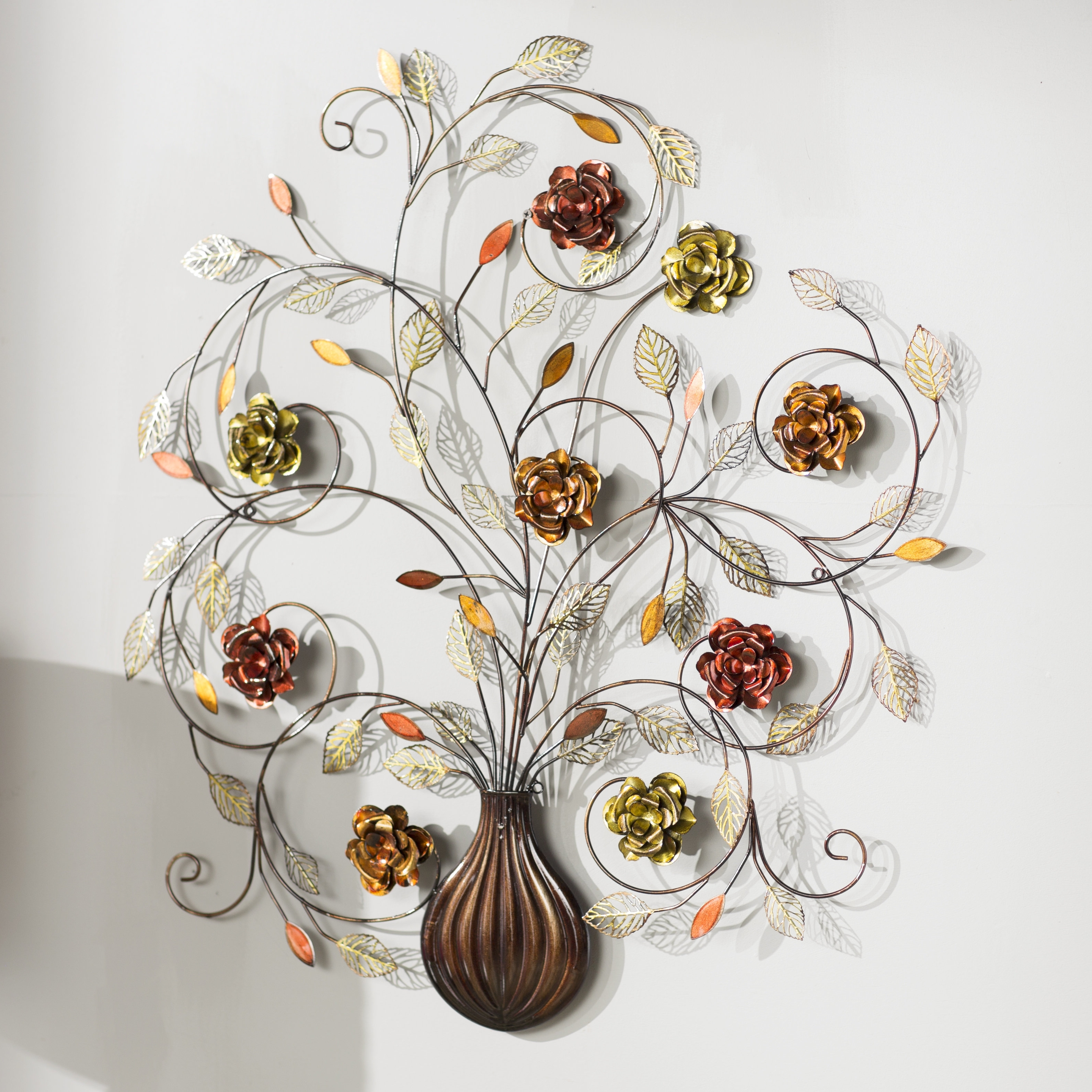 Flowers Metal Wall Decor Unique Metal Flower Wall Art – Home Design Pertaining To Fashionable Metal Flowers Wall Art (Gallery 18 of 20)