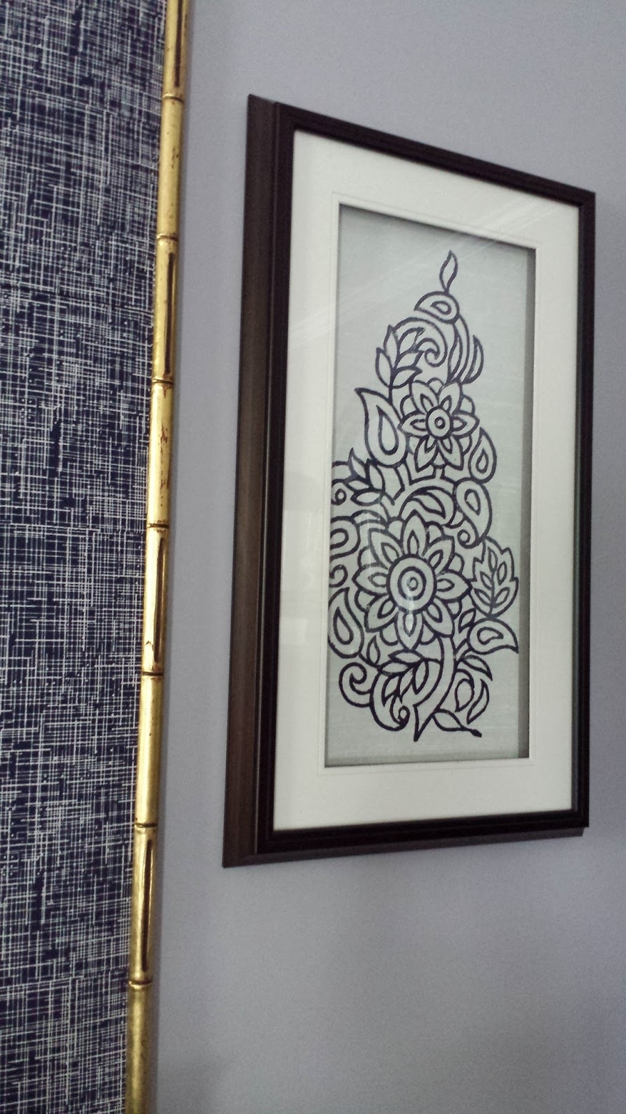 Focal Point Styling: Diy Indigo Wall Art With Framed Fabric Regarding Widely Used Cheap Framed Wall Art (View 11 of 20)