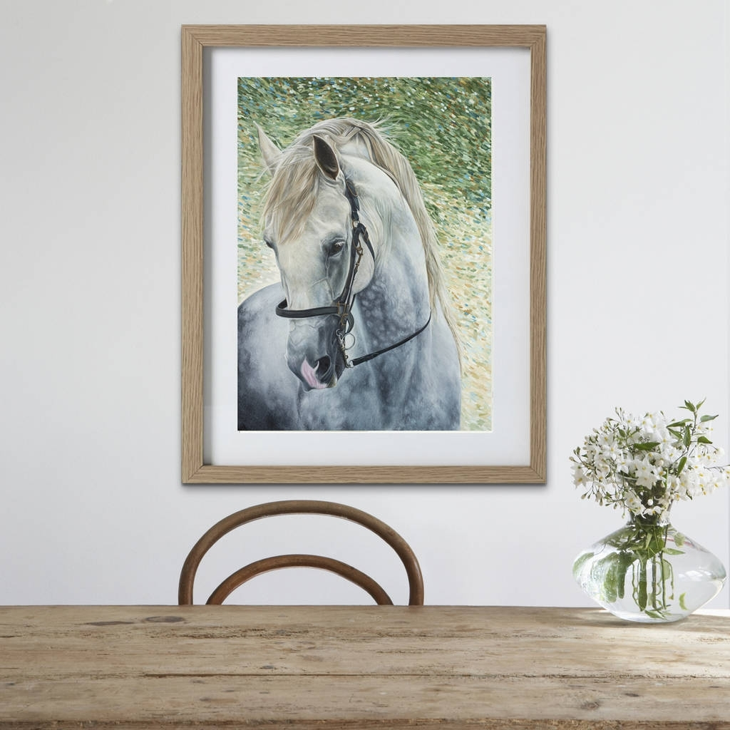 Framed Horse Prints (View 6 of 15)