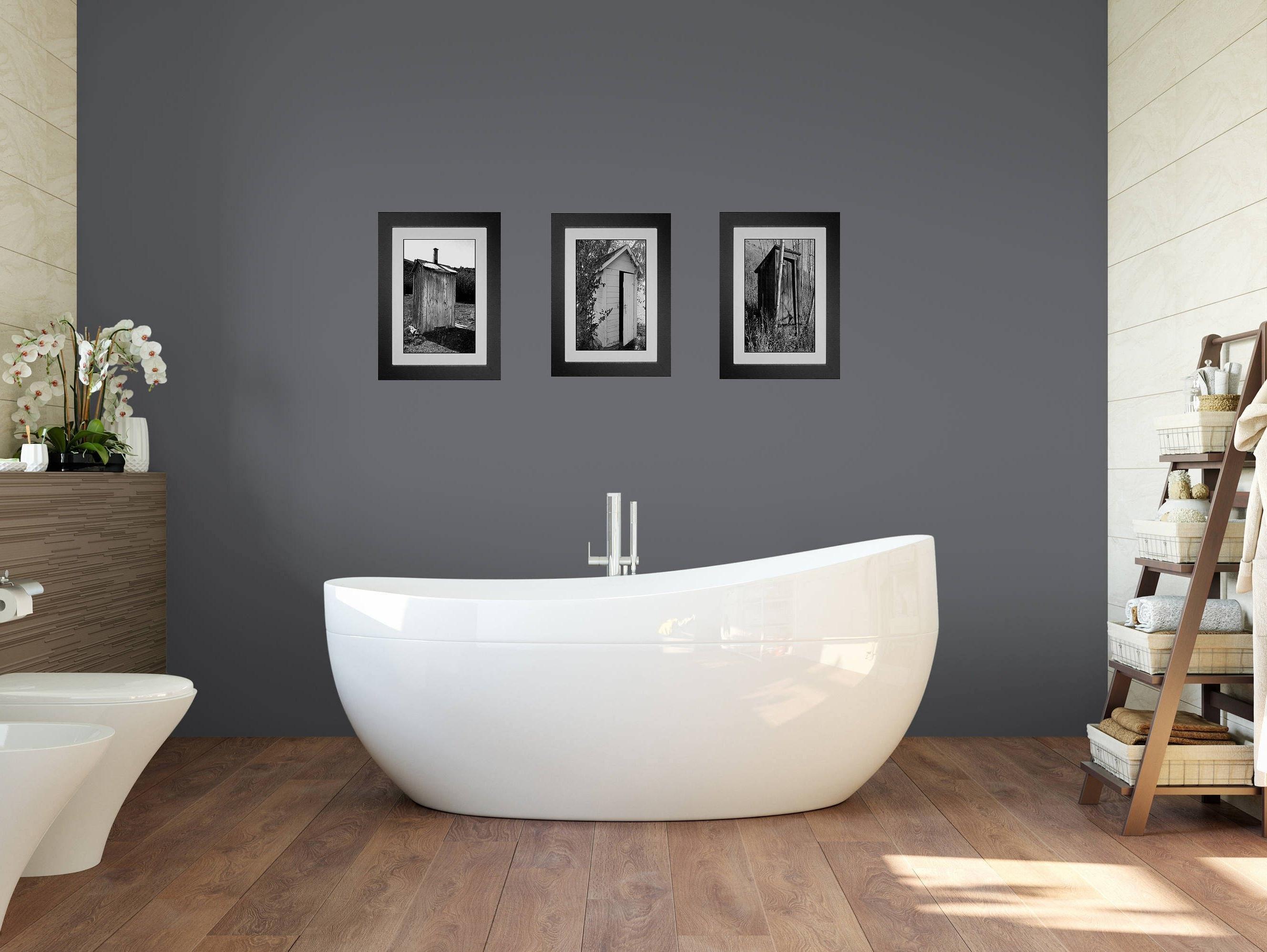 Funny Bathroom Art, Bathroom Wall Art, 3 Print Set, Framed Prints Throughout Latest Wall Art For Bathroom (View 6 of 20)