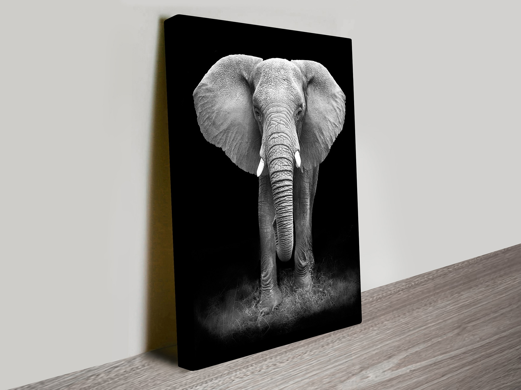 Gentle Giant Elephant Canvas Wall Art – Blue Horizon Prints Within Most Current Elephant Canvas Wall Art (View 14 of 20)