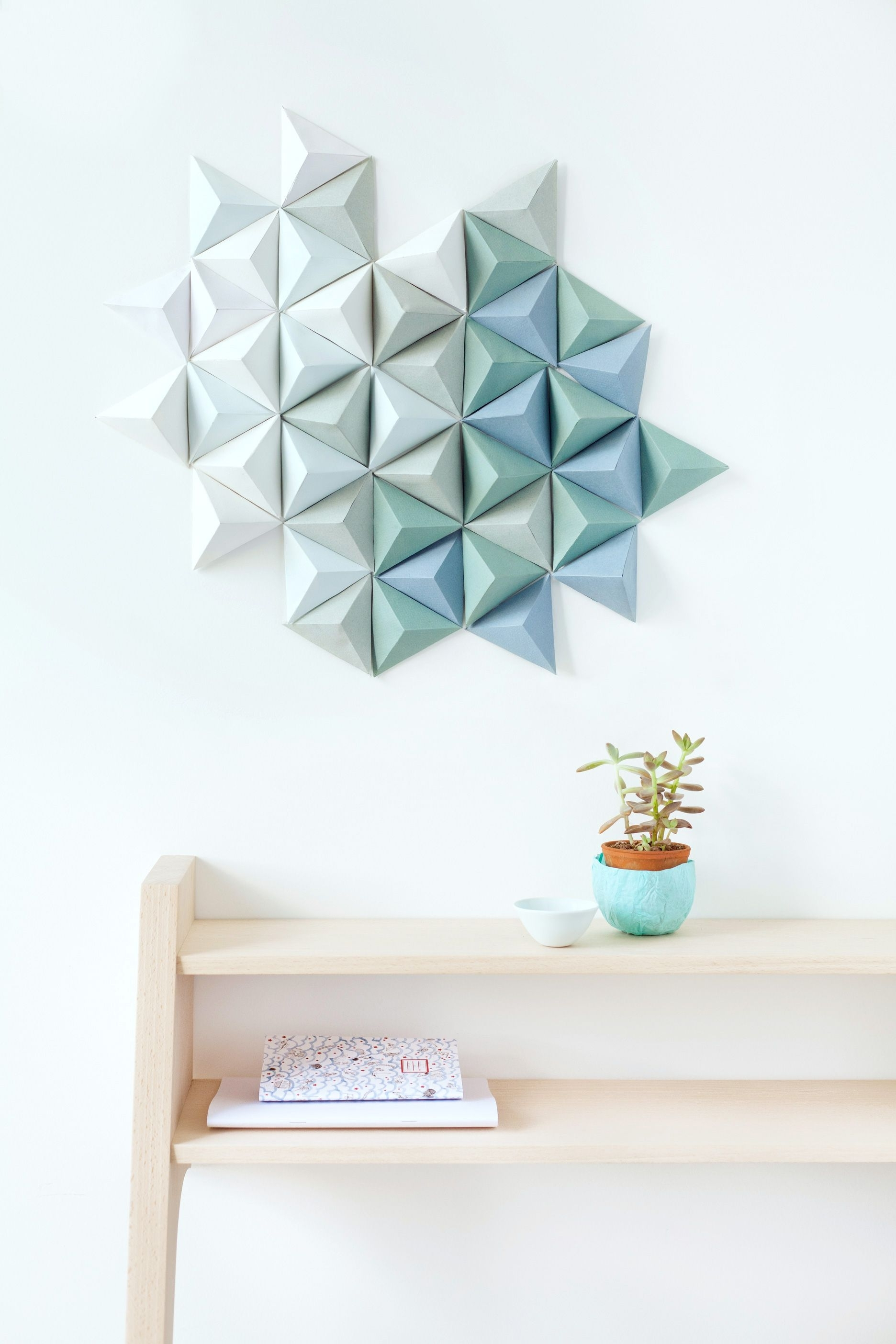 Geometric Wall Art With Regard To Most Up To Date Diy Paper Triangle (View 10 of 20)