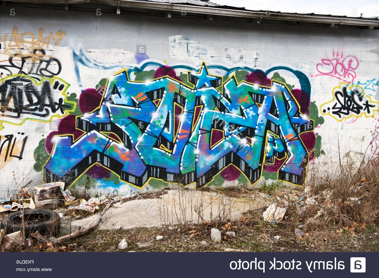 Graffiti Wall In Asheville, North Carolina Stock Photo: 97938574 – Alamy Regarding Well Liked North Carolina Wall Art (Gallery 20 of 20)