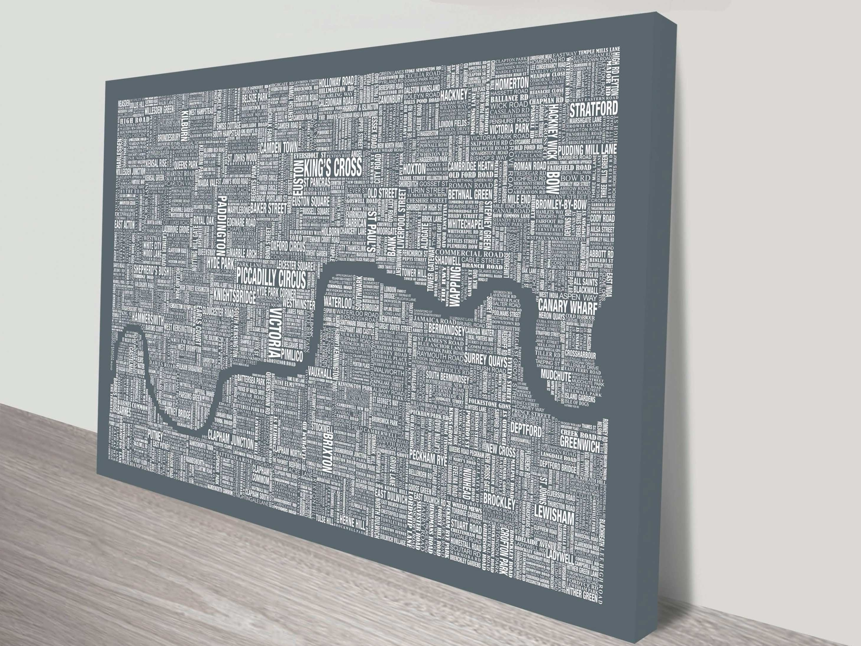Gray Canvas Wall Art Luxury 45 Of Tube Map Wall Art (View 2 of 20)