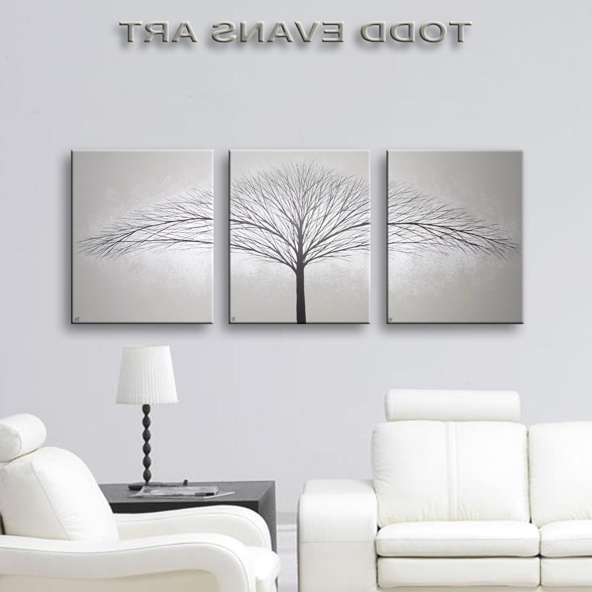 Grey Wall Art For Favorite Sensational Grey Wall Decor Art Canvas Painting Piece Minimalist (View 7 of 20)