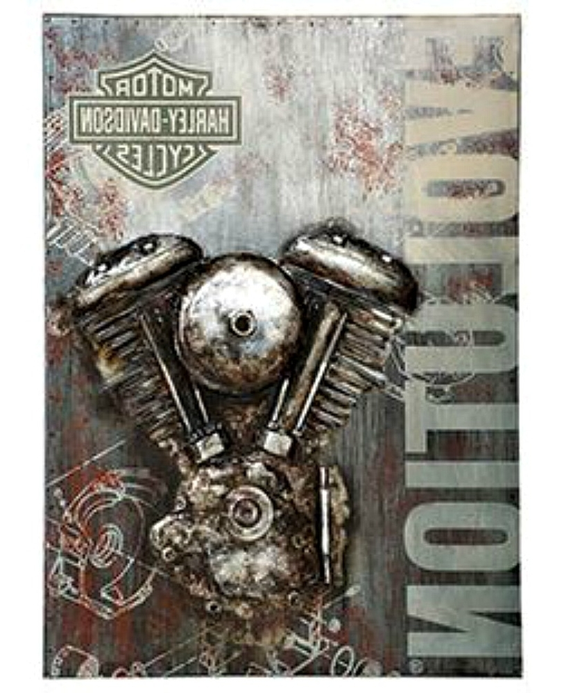 Harley Davidson® Evolution Motorcycle Metal Wall Art (View 12 of 20)