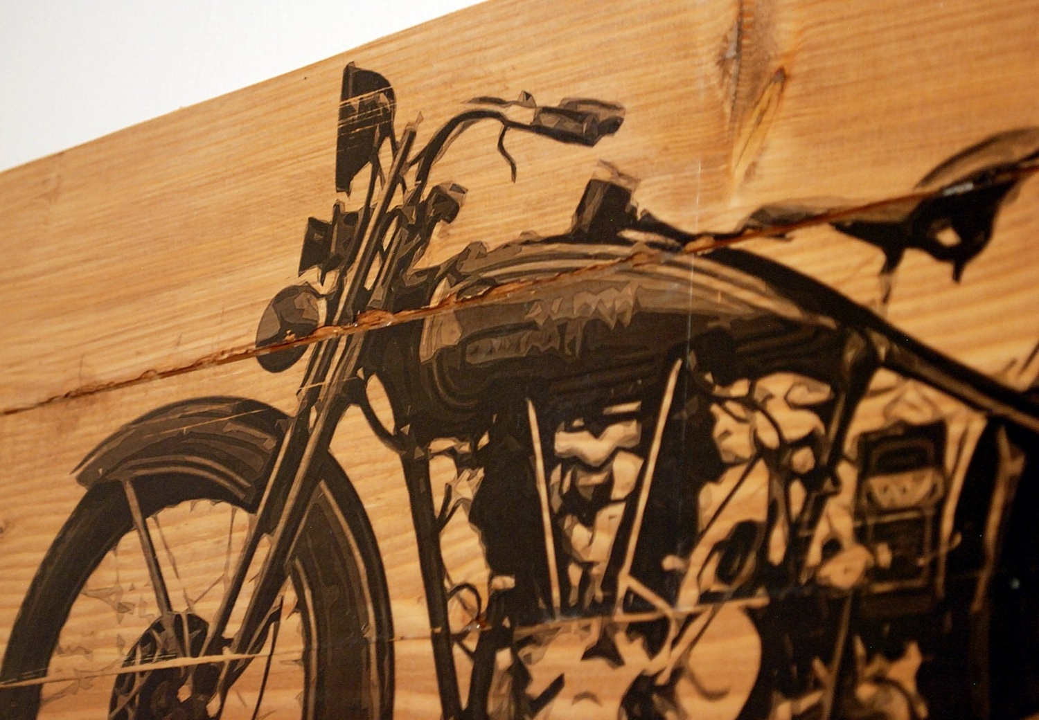 Harley Davidson Wall Art In Most Up To Date Large Vintage 1928 Harley Davidson Motorcycle Wall Art On, Harley (View 8 of 20)