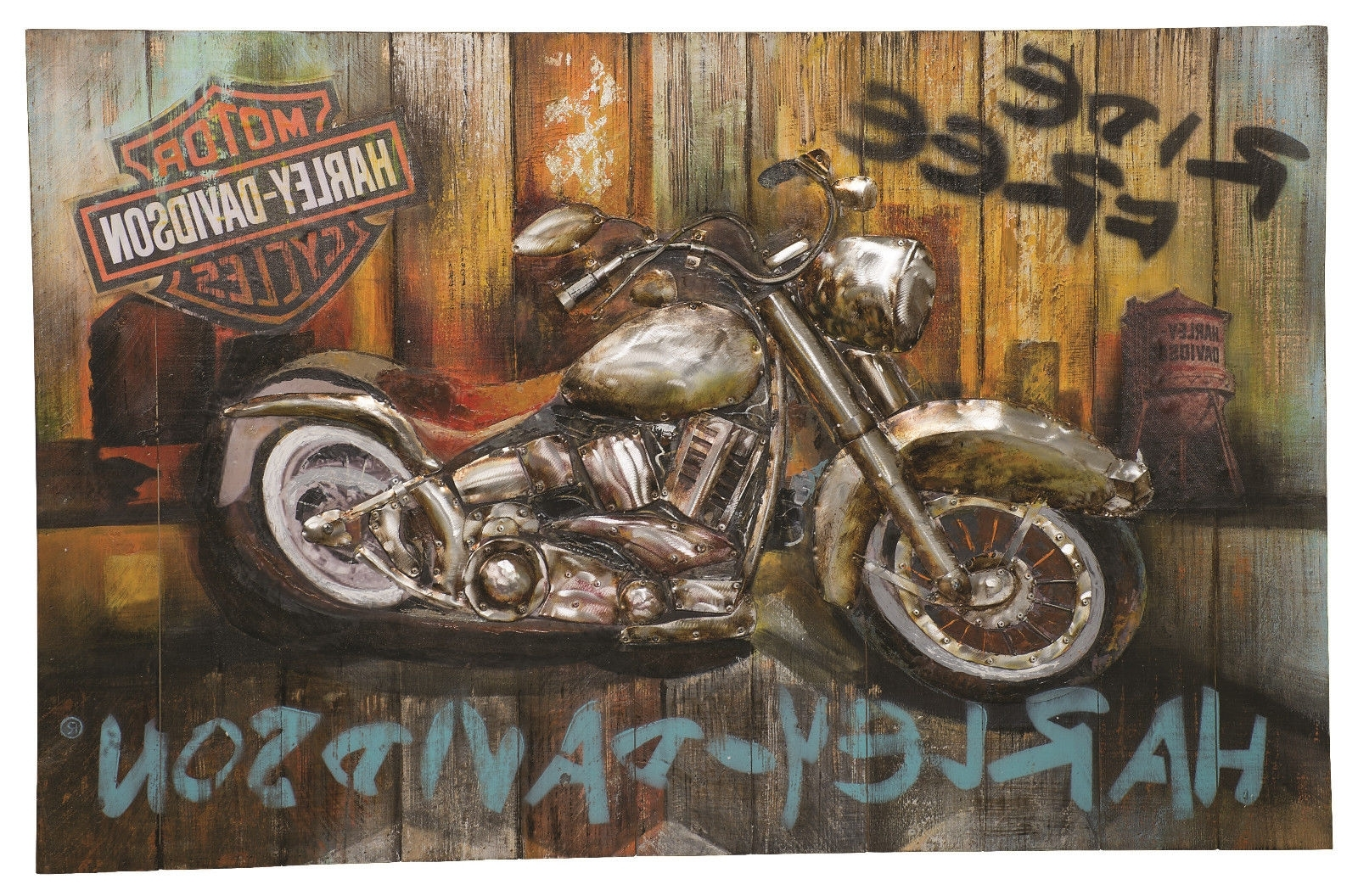 Harley Davidson Wall Art Throughout 2017 Harley Davidson® Ride Free Wall Art Hdl  (View 10 of 20)
