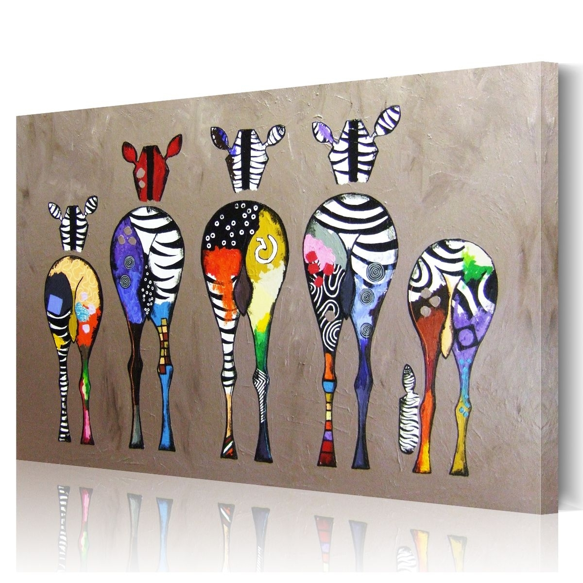Hd Abstract Zebra Canvas Prints Paintings Wall Art Home Decor With Regard To Newest Zebra Canvas Wall Art (View 6 of 20)