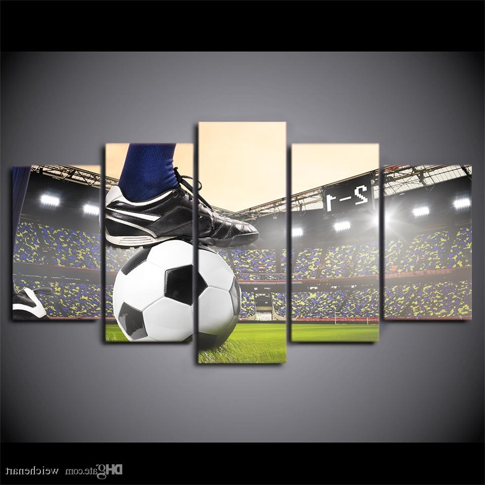 Hd Printed Canvas Art Soccer Match Painting Football Course Wall Intended For Most Popular Soccer Wall Art (Gallery 1 of 20)