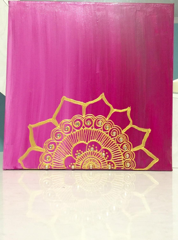 Henna Wall Art – Elitflat Regarding Most Current Henna Wall Art (View 6 of 20)