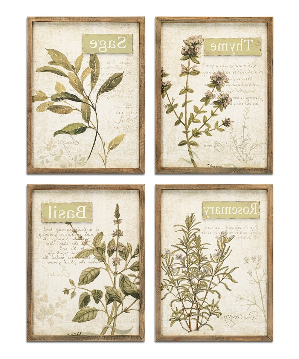 Herb Wall Art Brilliant Framed Set Of Four Zulily – Mycraftingbox Regarding Well Known Herb Wall Art (View 6 of 20)
