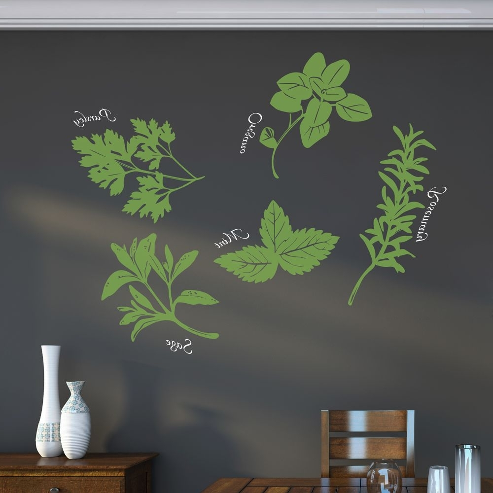 Herb Wall, Wall Art Decal And Herbs Inside Herb Wall Art (View 13 of 20)