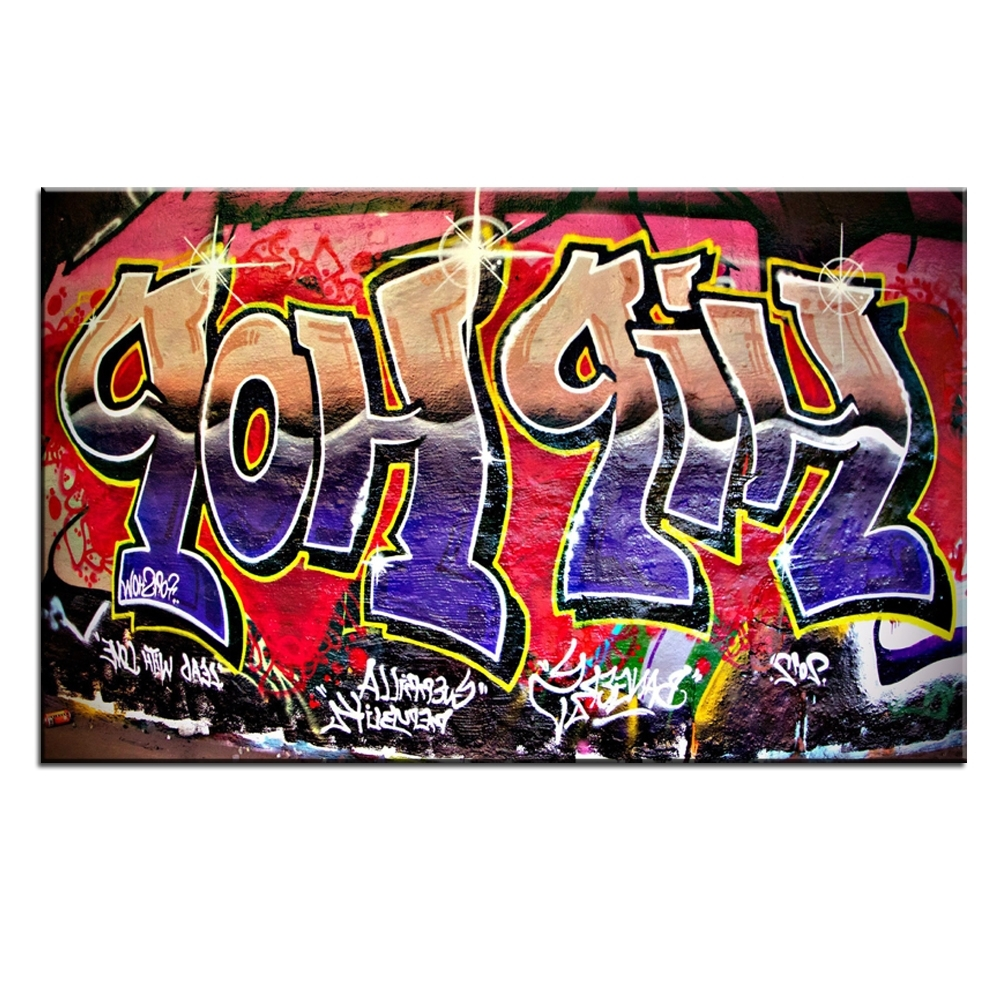 Hip Hop Wall Art Regarding Most Up To Date Xdr951 Graffiti Street Art Hip Hop Canvas Wall Art Prints Poster For (Gallery 3 of 15)