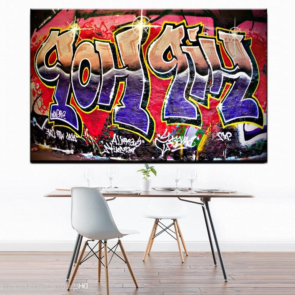 Hip Hop Wall Art With Widely Used 2018 Graffiti Street Art Hip Hop Paintings On Canvas Modern Wall (Gallery 9 of 15)