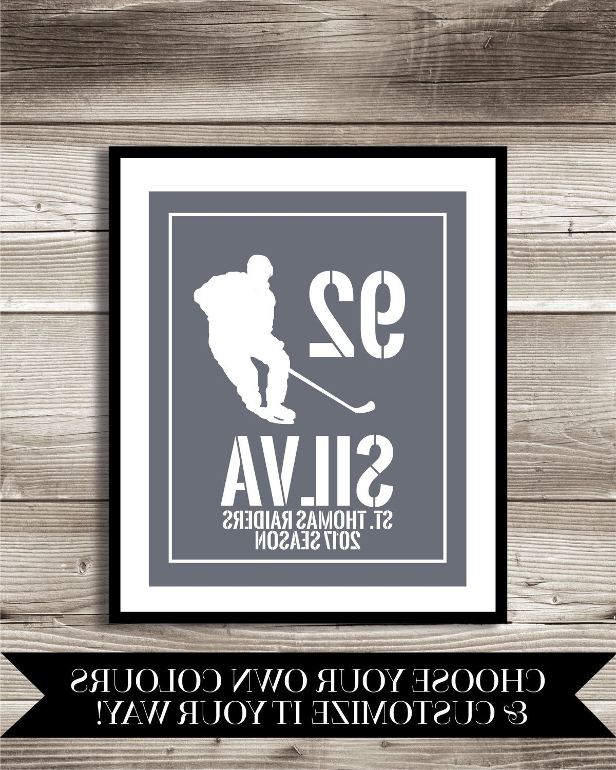 Hockey Wall Art For Newest Hockey Art, Hockey Gift, Personalized Hockey Photo Print, Hockey (View 5 of 15)