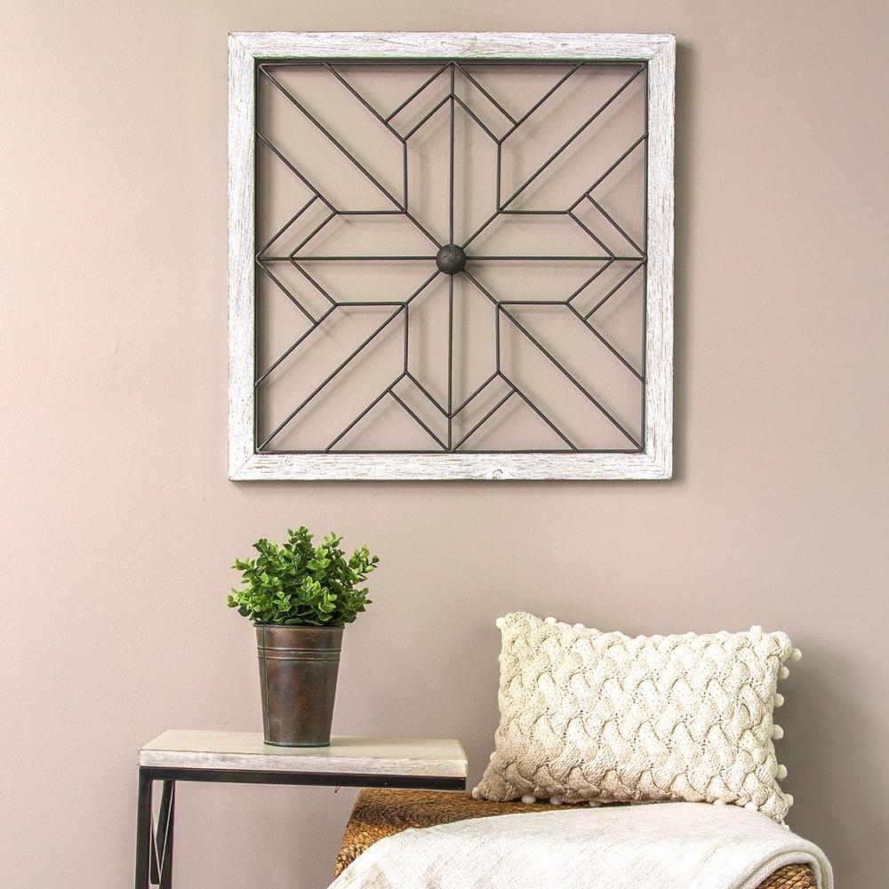Home Decor Wall Art With Most Up To Date Stratton Home Decor Square Metal And Wood Art Deco Wall Decor S (View 5 of 20)