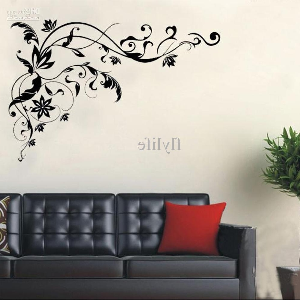 Home Wall Art Pertaining To Most Recently Released Large Black Vine Art Wall Decals, Diy Home Wall Decor Stickers For (Gallery 4 of 20)