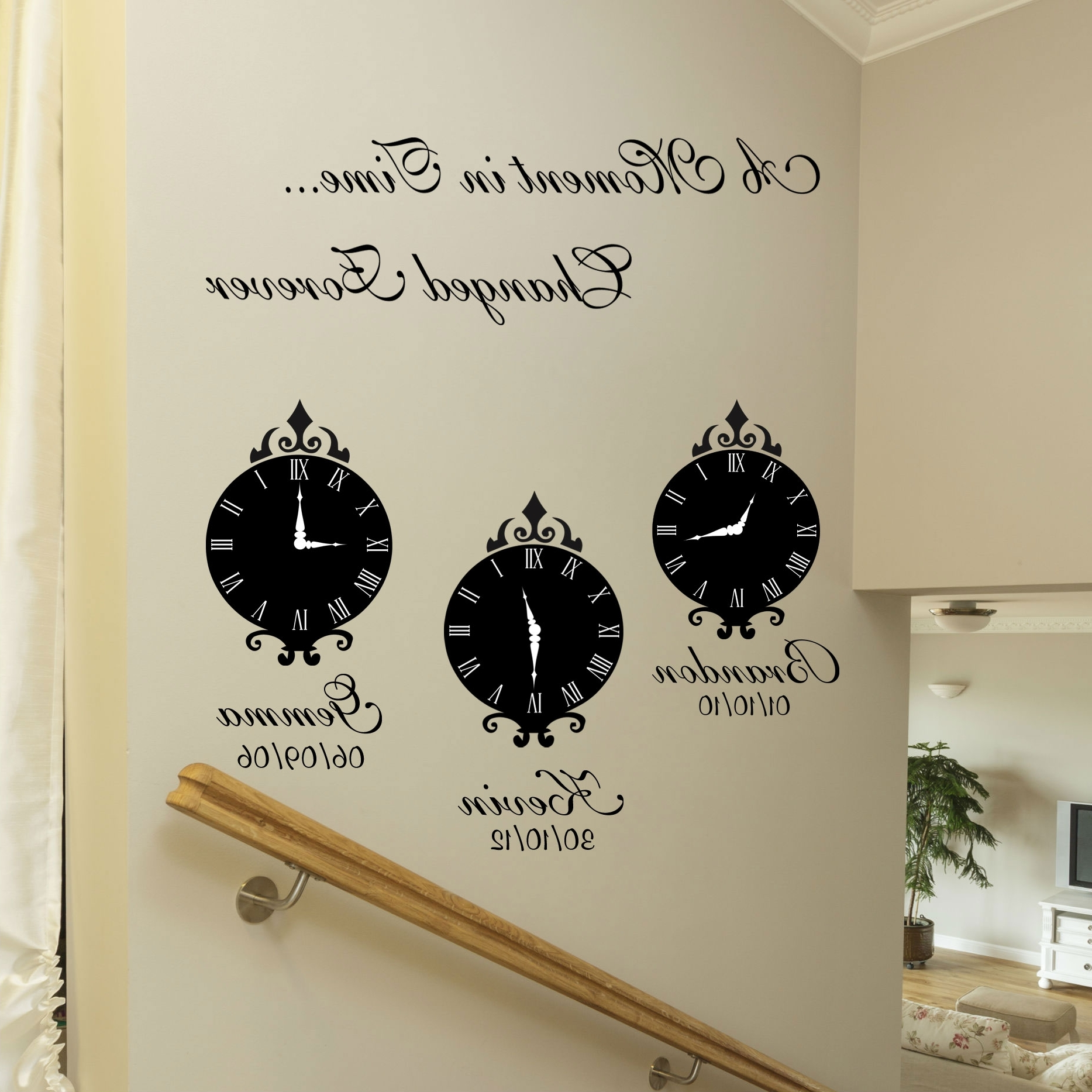 Home Wall Art Within Well Known A Moment In Time Wall Art Stickers (View 9 of 20)