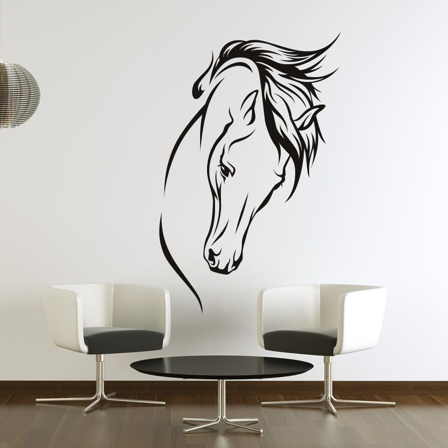 Horse Head Regarding Horses Wall Art (View 5 of 20)