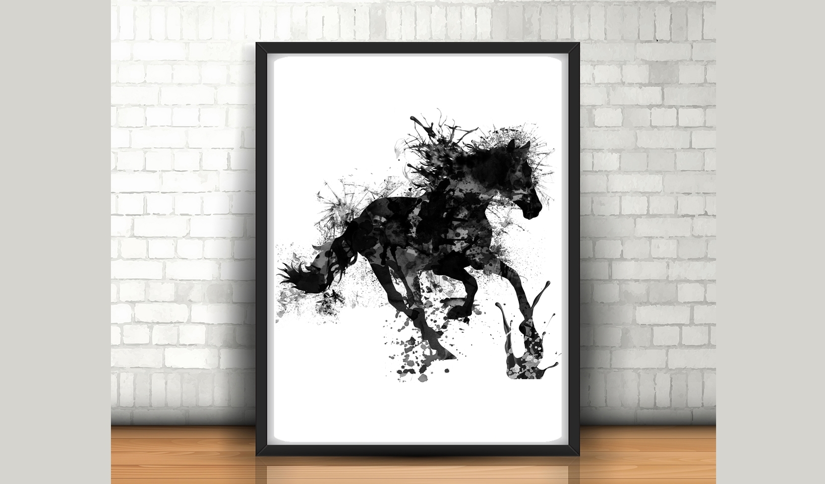 Horse Wall Art Inside Well Known Horse Wall Art – Size 24X36 Inches – H (View 7 of 15)