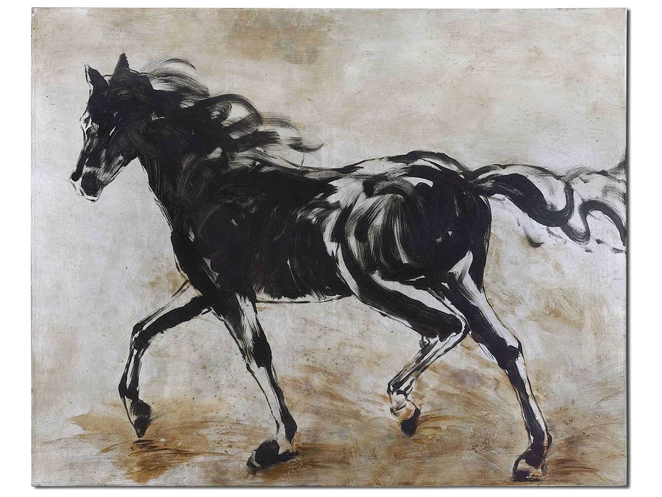 Horse Wall Art With Regard To Preferred Uttermost Blacks Beauty Horse Wall Art (Gallery 15 of 15)