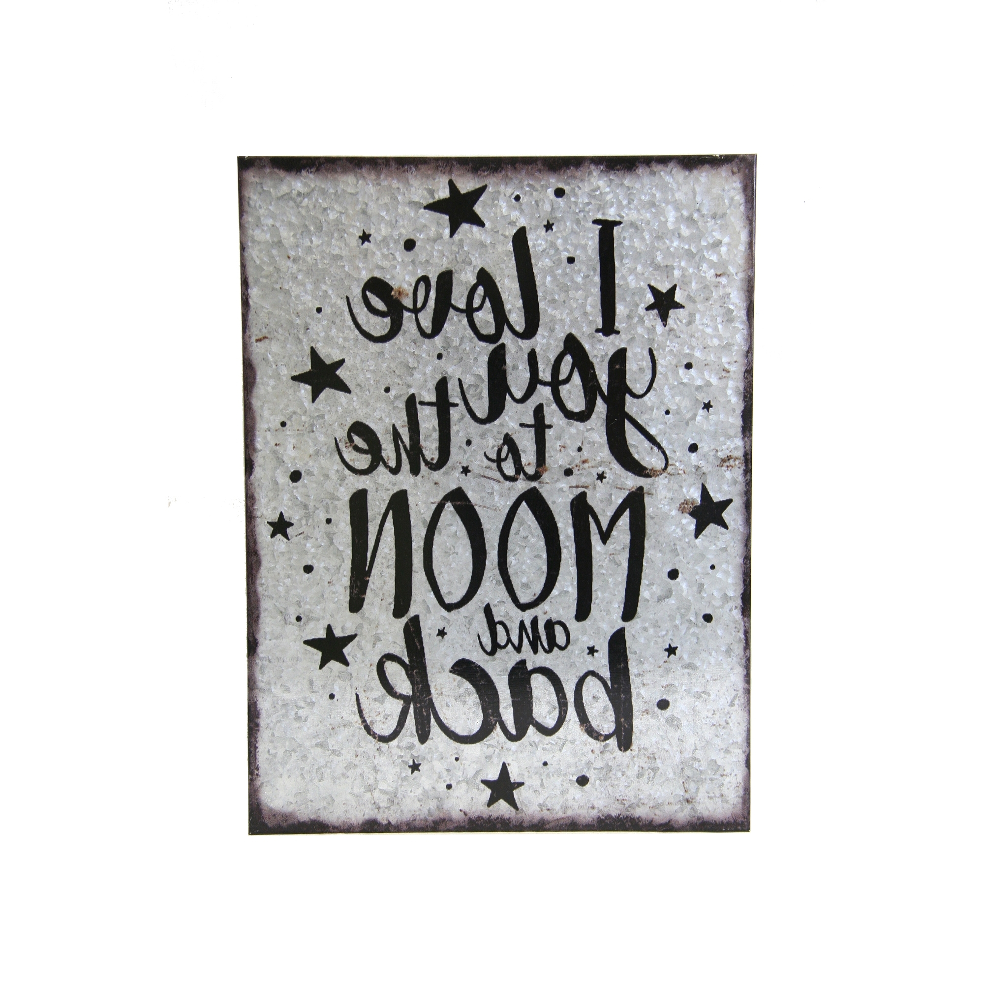 I Love You To The Moon And Back Wall Art Intended For Famous Metal Wall Art – I Love You To The Moon And Back (Gallery 20 of 20)