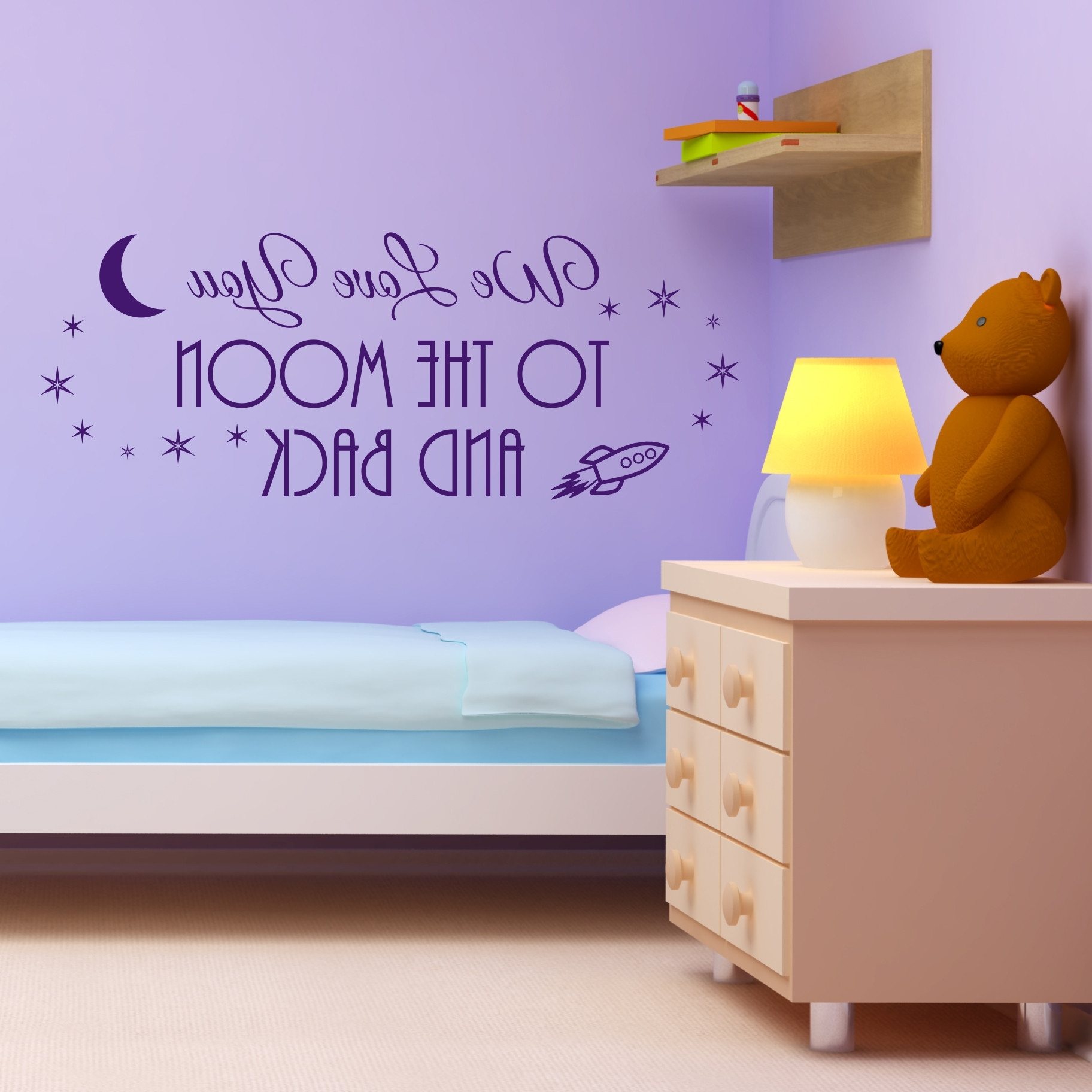 I Love You To The Moon And Back Wall Art Throughout Trendy Nobby Design I Love You To The Moon And Back Wall Art – Ishlepark (Gallery 19 of 20)