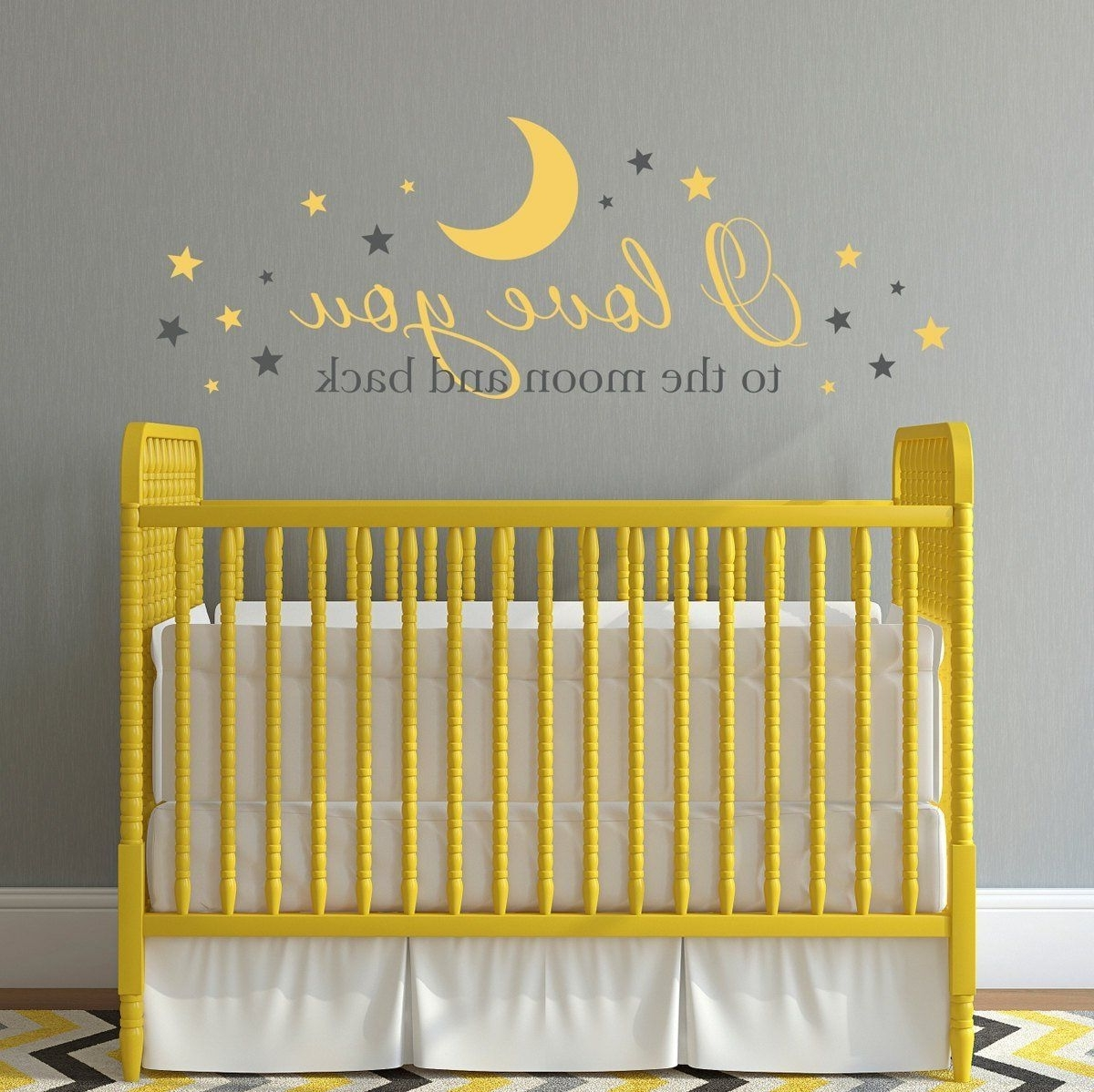 I Love You To The Moon And Back Wall Decal – Nursery Decal – Baby With Famous I Love You To The Moon And Back Wall Art (Gallery 5 of 20)
