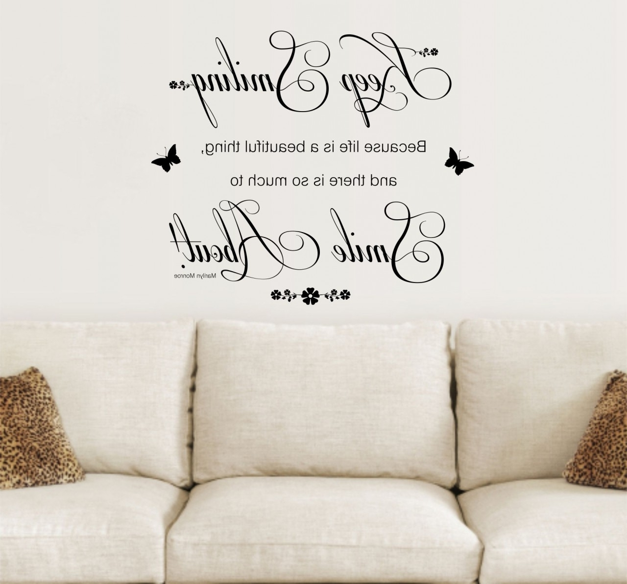Inspirational Quotes Wall Art Inside Fashionable Quotes For Wall Decoration – Blogtipsworld (View 8 of 20)