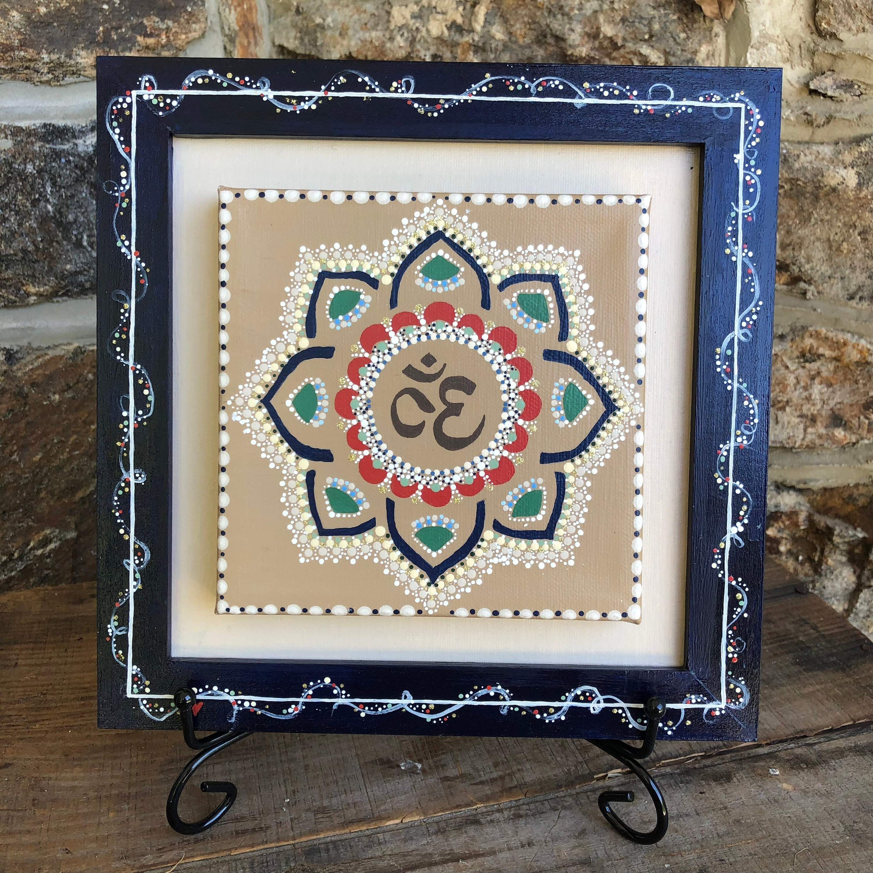 Inspirational Wall Art Canvas Regarding Most Recently Released Om Dotted Mandala Canvas Yoga Wall Art, Meditation Gift For Her (View 14 of 15)