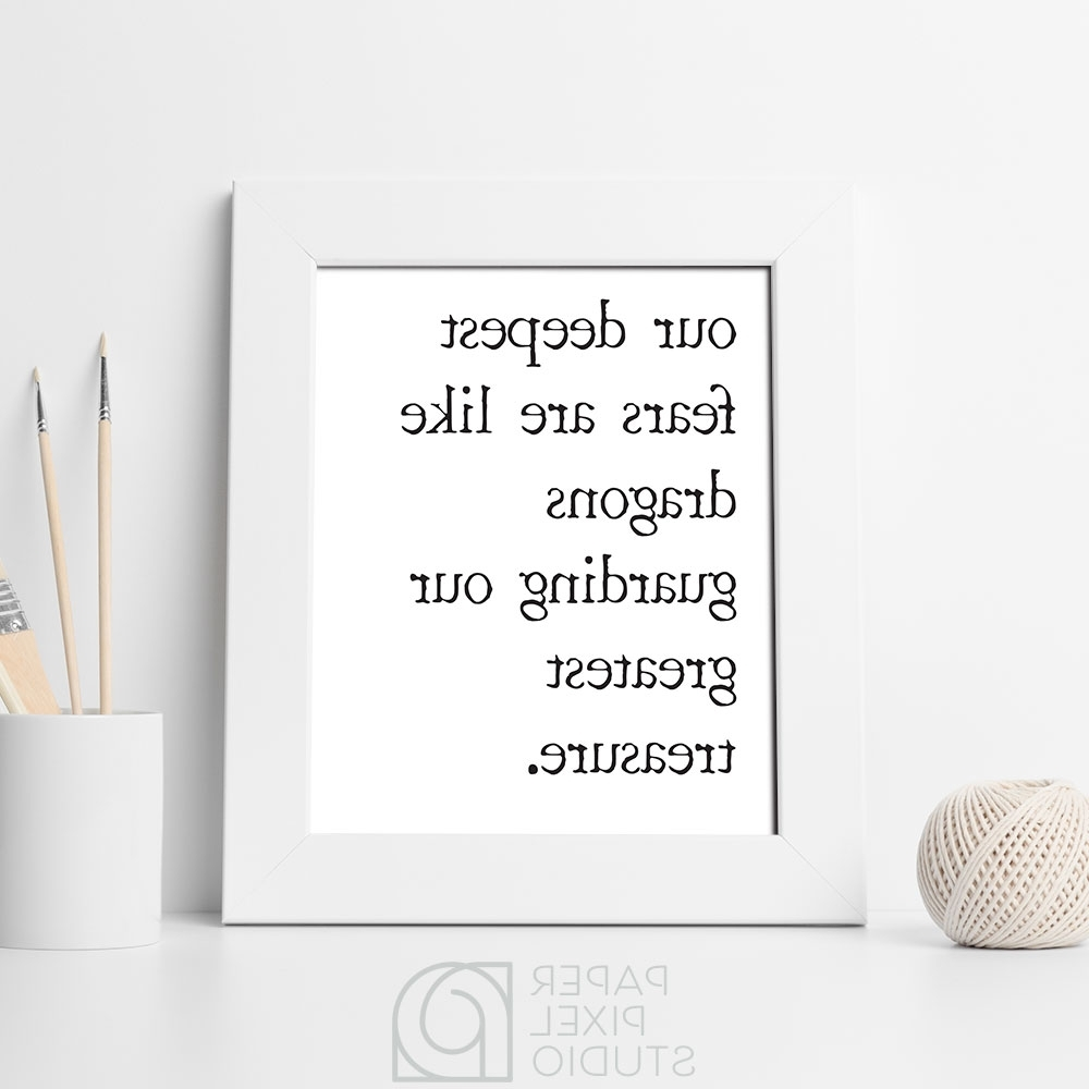 Inspirational Wall Art, Printable Wall Decor, Minimalist Home Decor Within Recent Inspirational Wall Art (View 8 of 15)