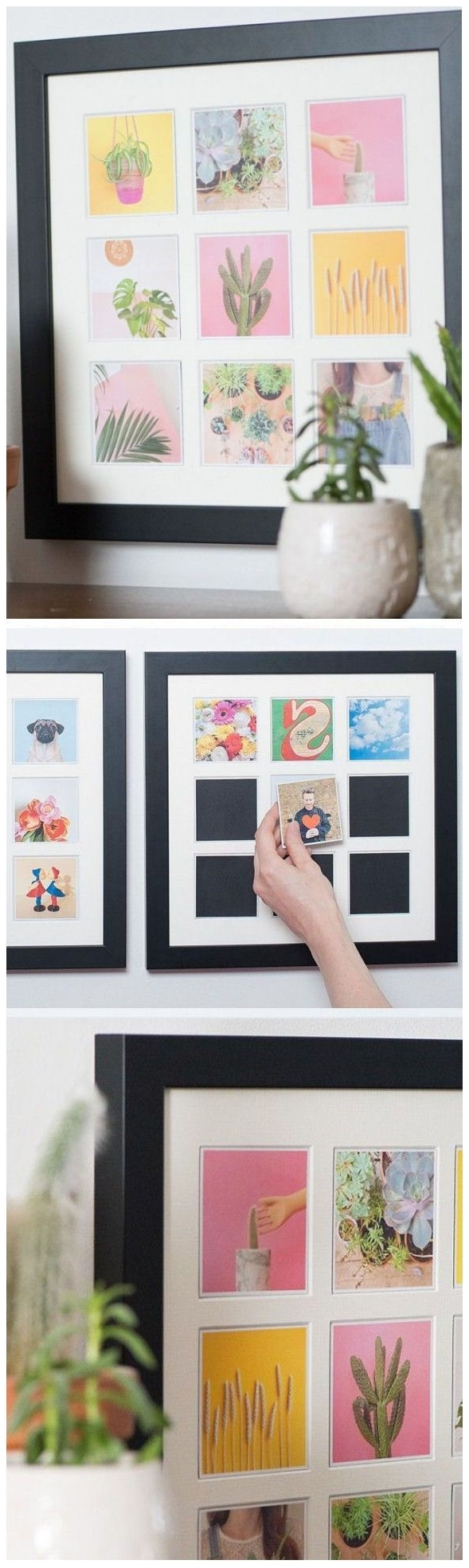 Instagram Wall Art For Most Recent Magnetic Picture Frame // Making It Easy To Change Your Decor (View 10 of 20)