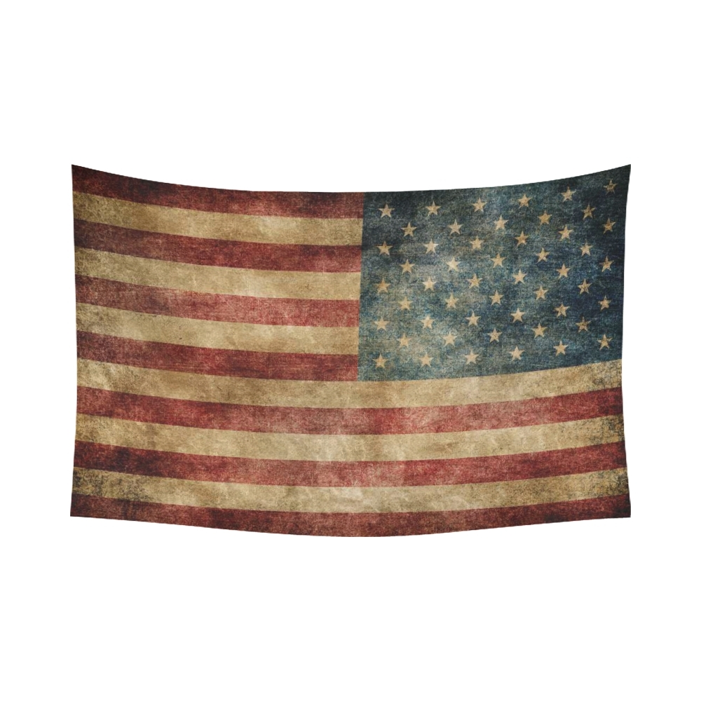Interestprint Stars And Stripes Usa Flag Wall Art Home Decor Within Most Recently Released Vintage American Flag Wall Art (Gallery 7 of 20)