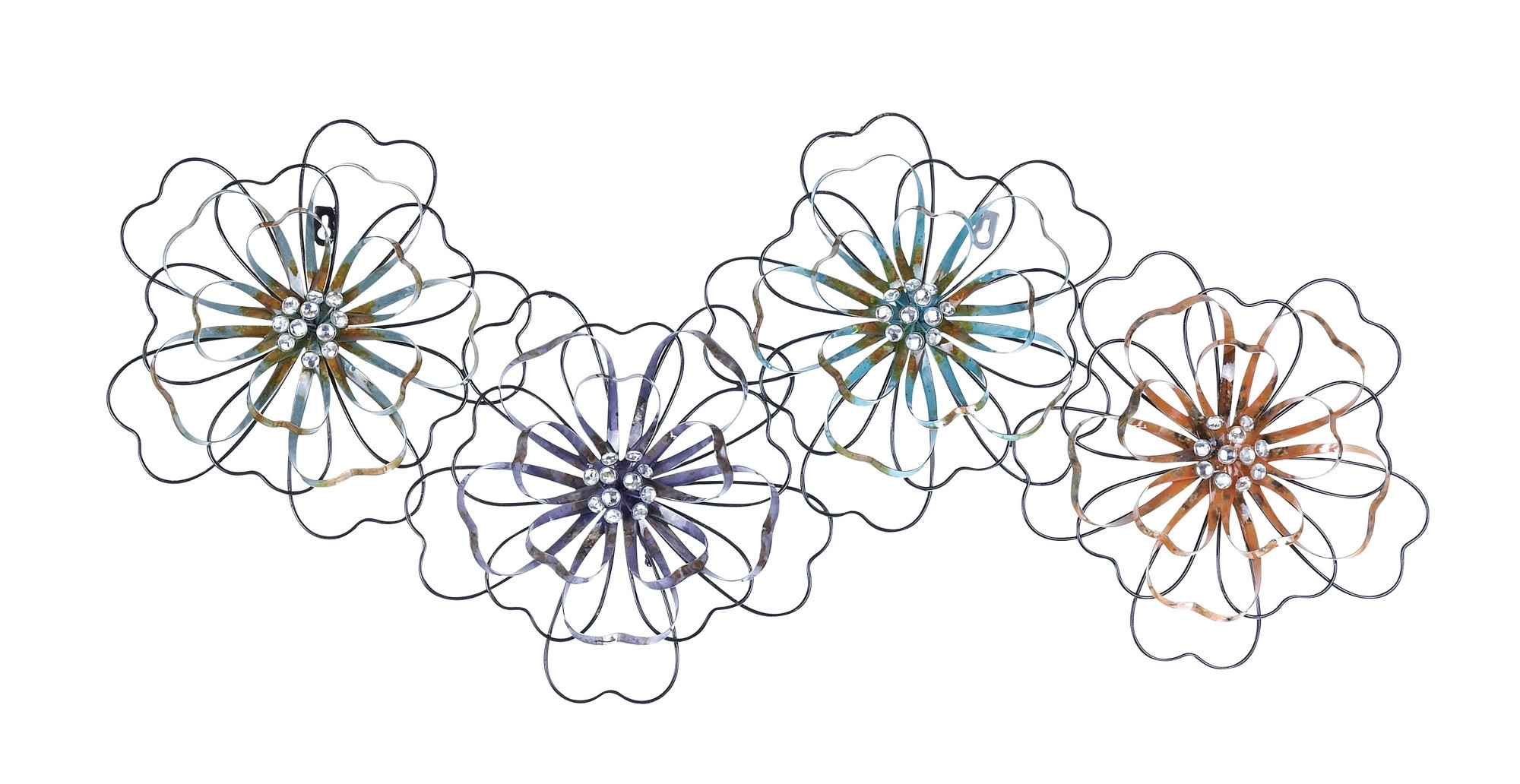 Intermingled Flowers – Floral Metal Wall Art Inside Well Liked Metal Flower Wall Art (View 7 of 15)