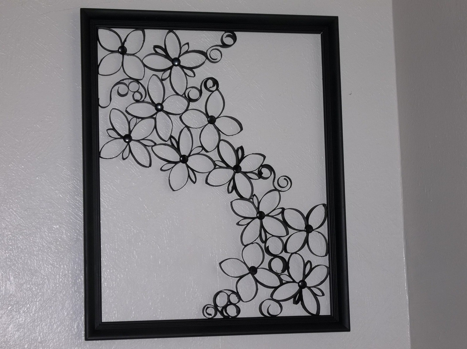 Iron Wall Art In Newest Faux Wrought Iron Wall Art For Under $5 · How To Make A Paper Roll (View 9 of 20)