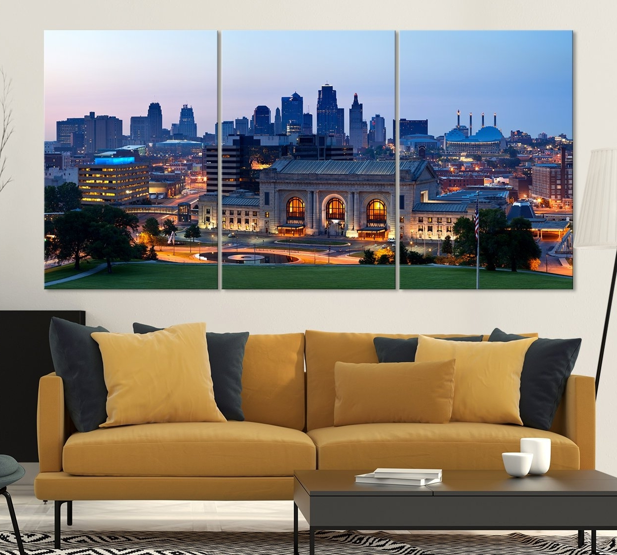 Kansas City Night Skyline Wall Art Canvas Print, Kansas City In 2018 Kansas City Wall Art (View 3 of 20)